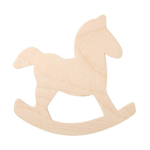 Wooden Rocking Horse Ornament Cutout - product images