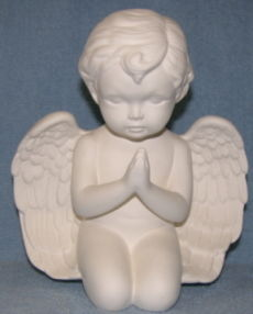Praying,or,Hands,Open,Large,Cherub,Ceramic,Bisque,Ready,to,Finish,praying cherub,angel,ceramic bisque,painting surface,bisque,ceramic,ready to paint ceramic,kg krafts,scioto molds,scioto ceramic angels