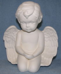 Praying or Hands Open Large Cherub Ceramic Bisque Ready to Finish - product image