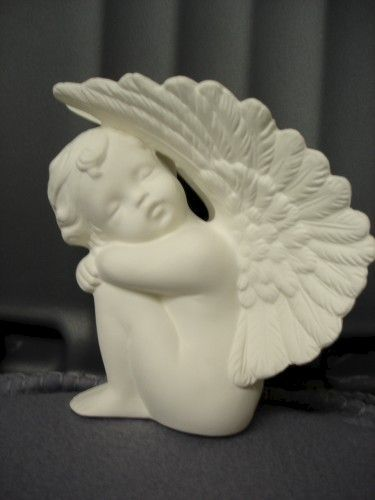 Napping Cherub Ready to Paint Ceramic Bisque - product image