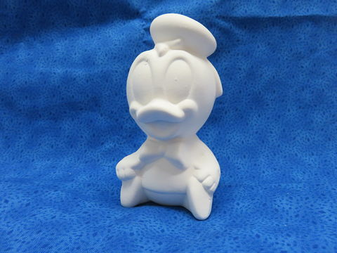 Baby,Donald,Duck,Ceramic,Bisque,Disney, Donald Duck, ceramic bisque, ready to paint,kg krafts,shower favors