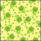 Sunshine Day Cotton Fabric by Modern Muse Designs for Studio E Fabrics Frogs - product image