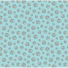 Curious Cats Paw Print Fabric by Elizabeth's Studio - product image