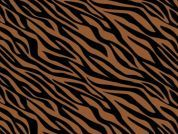 Camelot Fabrics Black and Tan Tiger Stripes - product image
