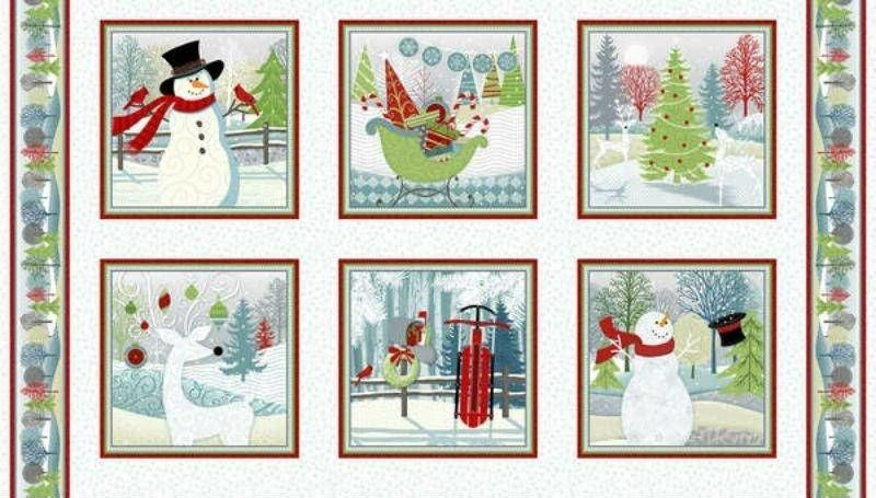 Holiday Cheer Panel by Jan Shade Beach for Henry Glass Fabrics - product images