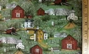 Quilt Barns and Bridges by Karen Combs for Riverwoods Fabrics - product images