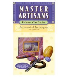 Master,Artisans,Polymer,Clay,Series,Potpourri,of,Techniques,by,Donna,Kato,(VHS), Master Artisans Polymer Clay Series Potpourri of Techniques by Donna Kato (VHS) tape,kg krafts,millefiori,donna Kato,marie segal