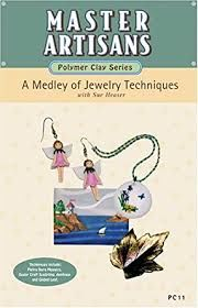 Master,Artisans,Polymer,Clay,Series,A,Medley,of,Jewelry,Techinques,by,Sue,Heaser,(VHS), Master Artisans Polymer Clay Series,A Medley of Jewelry Techinques,Sue Heaser,VHS tape,kg krafts,millefiori,donna Kato,marie segal