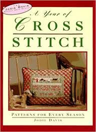 A,Year,of,Cross,Stitch,by,Jodie,Davis,for,Friedman/Fairfax,Vanessa-Ann's Holidays in Cross -Stitch 1993 ,Oxmoor House,Leisure Arts, Counted Cross Stitch,kg krafts,dmc,Christmas,needlework,needle arts