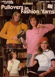 Leisure,Arts,Knitted,Pullovers,in,Fashion,Yarns,leaflet,182,Leisure Arts ,Knitted Pullovers in Fashion Yarns,leaflet 182,kg krafts,quilting,fabric,sewing,patterns