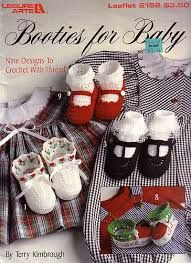 Booties,for,Baby,Leisure,Arts,2152,by,Terry,Kimbrough,Booties for Baby Leisure Arts 2152 by Terry Kimbrough,knit,crochet,sweaters,children,kg krafts,quilting,fabric,sewing,patterns