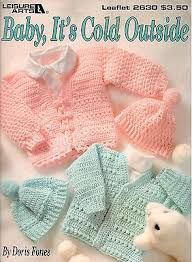 Baby,,It's,Cold,Outside,Leisure,Arts,leaflet,2630,Baby, It's Cold Outside Leisure Arts leaflet 2630,doris fones,Beginners,kg krafts,patterns,crochet,knit