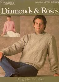 Leisure,Arts,Diamonds,and,Roses,leaflet,475,Leisure Arts Diamonds and Roses leaflet 475,kg krafts,knit,sweaters,aran, cable knit
