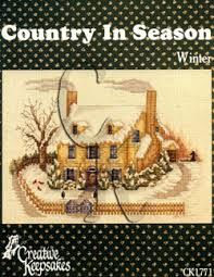 Country,in,Season,WInter,CK,1771,Country in Season WInter CK 1771, cross stitch, classic cross stitch, needle arts,kg krafts,needle arts