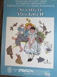 Norman,Rockwells,Four,Ages,of,Love,Series,book,5079,for,Paragon,Needlecraft,norman rockwell, Four Ages of Love Series  book 5079  ,count cross stitch, pattern, paragon needlecraft, country cross stitch, needlework