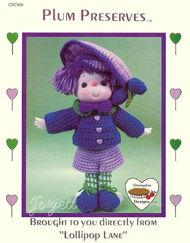 Plum,Preserves,From,Lollipop,Lane,Plum Preserves From Lollipop Lane, kg krafts,yarn dolls, craft supplies,crafts,supplies,indie supplies