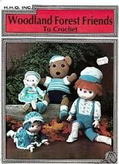 Woodland,Forest,Friends,by,Jan,Hatfield,Woodland Forest Friends by Jan Hatfield, hho inc,vintage,crochet, pat thom, love me dolls,kg krafts,yarn dolls, craft supplies,crafts,supplies,indie supplies
