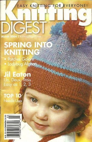 Knitting,Digest,March,2004,Knitting Digest March 2004,crochet,knit,magazine,kg krafts,sewing, crafts,supplies