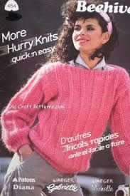 Beehive,More,Hurry,Knits,Quick,'n,Easy,no,454,Beehive More Hurry Knits Quick 'n Easy  no 454,crochet,knit,magazine,kg krafts,sewing, crafts,supplies