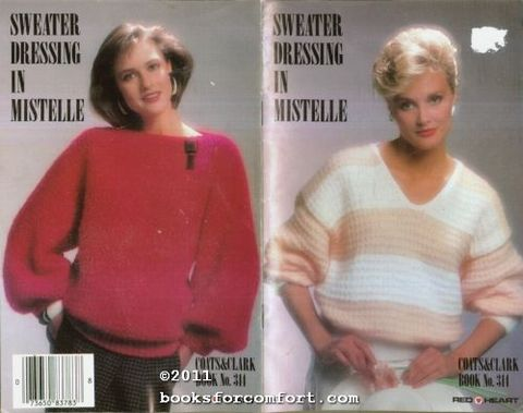 Sweater,Dressing,in,Mistelle,Coats,and,Clark,no,314,Sweater Dressing in Mistelle, Coats and Clark no 314,crochet,knit,magazine,kg krafts,sewing, crafts,supplies
