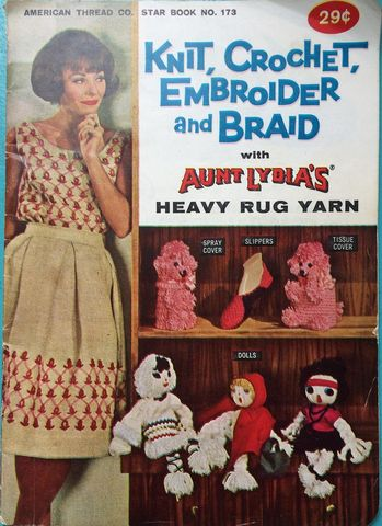 American,Thread,Co,Star,book,no,173,Aunt,Lydia's,Heavy,Rug,Yarn,American Thread Co Star book no 173 Aunt Lydia's Heavy Rug Yarn,crochet,knit,magazine,kg krafts,sewing, crafts,supplies