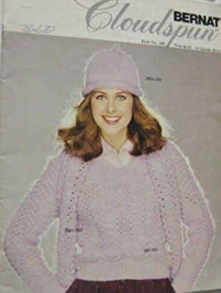 Bernat,Cloudspun,book,265,Bernat Cloudspun book 265, Winter 1990,kg krafts,knit,crochet