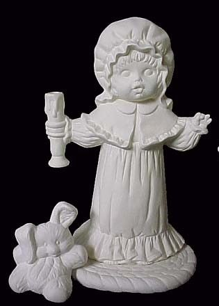 Boy and Girl Holding Candles  - product image