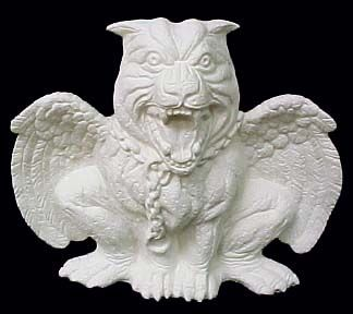 Chained,Gargoyle,Chained Gargoyle ,ceramic, Bisque, Ready to Paint,ready to finish,kg krafts
