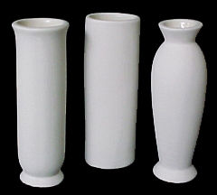 Set of Three Bud Vases Ready to Paint Ceramic Bisque   - product images
