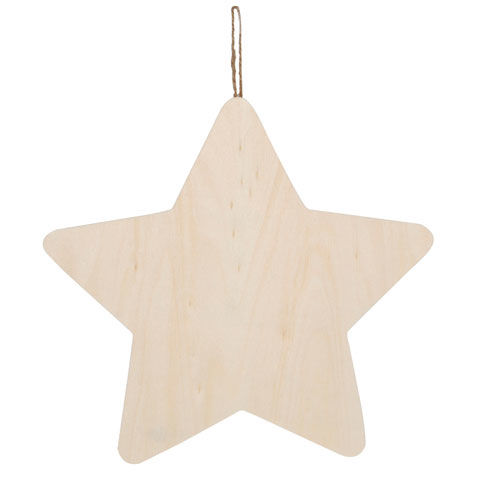 Wood Plaque with Hanger - Star - product images