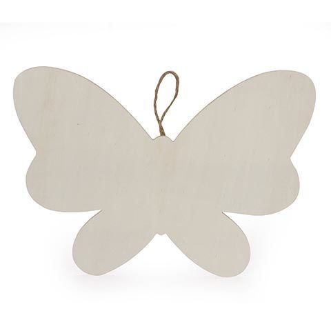 Darice® Wood Plaque with Hanger - Butterfly - 1 piece - product images