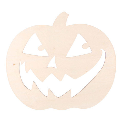 Darice® Laser Cut Wood Jack-o'-Lantern - Unfinished - 10.75 x 12 inches - product images