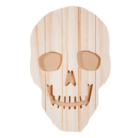 Darice® Carved Pallet Skeleton Face - Unfinished - Wood  - product image