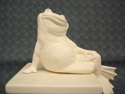Posing,Frog,Ready,to,Paint,Ceramic,Bisque,ceramic bisque,ready to paint,ceramics, bisque,kg krafts