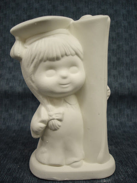 Graduate Girl Ready to Paint Ceramic Bisque - product images