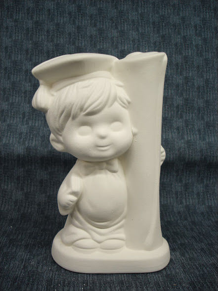 Graduate Boy Ready to Paint Ceramic Bisque - product images
