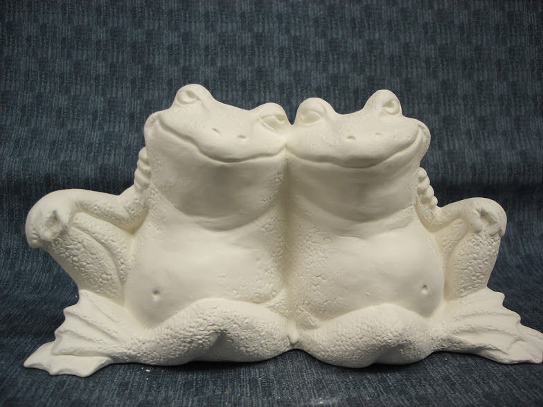Frog Couple Ready to Paint Ceramic Bisque - product images