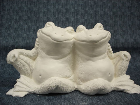 Frog,Couple,Ready,to,Paint,Ceramic,Bisque,ceramic bisque,ready to paint,ceramics, bisque,kg krafts