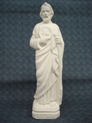 Saint,Jude,Ceramic,Bisque,Ready,to,Paint,ceramic bisque,ready to paint,ceramics, bisque,kg krafts,saint jude,religious