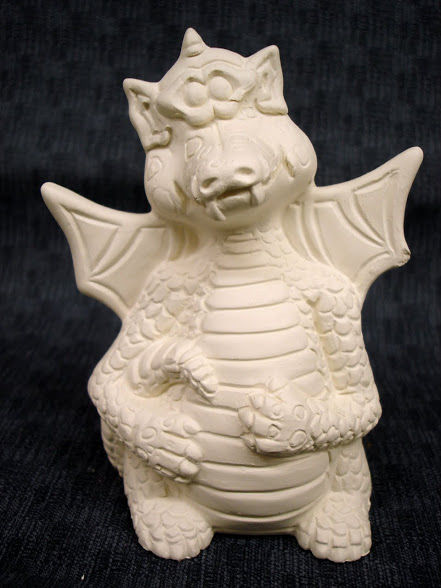 Happy Little Dragon Ready to Paint Ceramic Bisque - product images