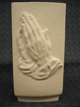 Praying Hands Vase Unpainted Ceramic Bisque - product images
