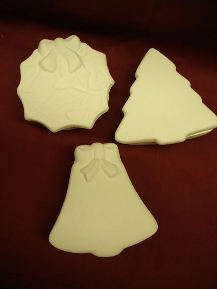 Christmas Box  Unpainted Ceramic Bisque - product images