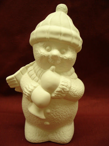 Snowmen Playing Horn   Unpainted Ceramic Bisque - product images