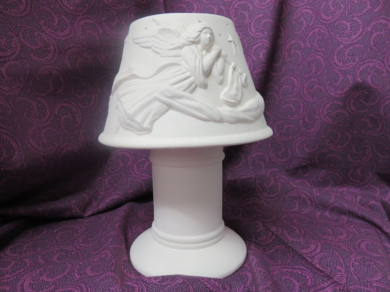 Angels Lamp Shade Unpainted Ceramic Bisque - product image