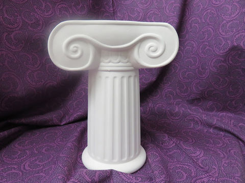 Victorian,T,column,Unpainted,Ceramic,Bisque,ceramic bisque,ready to paint,ceramics, bisque,kg krafts,victorian column