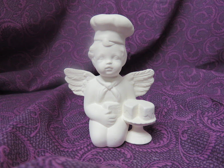 Baker Cherub Unpainted Ceramic Bisque - product images