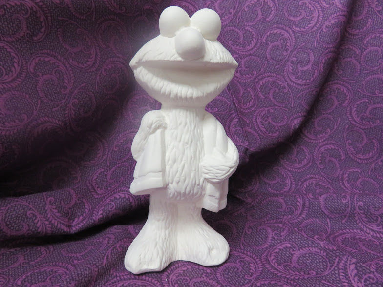 Elmo unpainted Ceramic Bisque ready to paint - product images