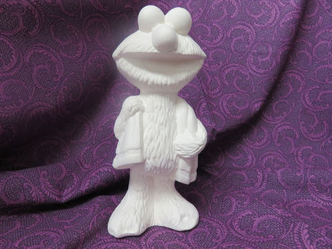 Elmo,unpainted,Ceramic,Bisque,ready,to,paint,ceramic bisque,ready to paint,ceramics, bisque,kg krafts,elmo,gare molds,jodi molds