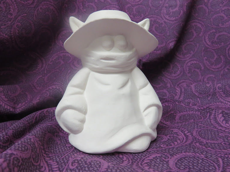 Child's Cartoon Villain Soap Dispenser unpainted Ceramic Bisque ready to paint - product images