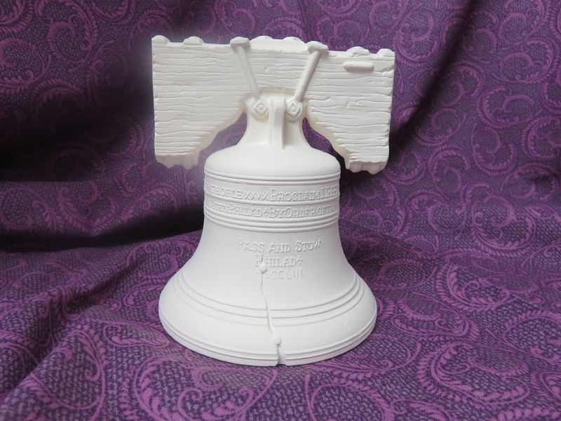 Liberty Bell Bank in Ceramic Bisque - product image
